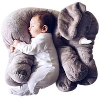 AIBOULLY Colorful Giant Elephant Stuffed Animal Toy Animal Shape Pillow Baby toy toys Home Decor Plush Toys for Children Kids