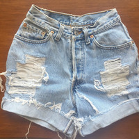 Size 00 Levi's High Waisted Jean Shorts