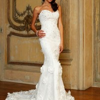 Mermaid gown with flowing train Dress JB89535 - Wedding Dresses