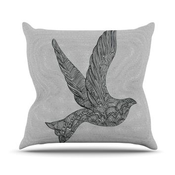 "Belinda Gillies ""Dove"" Throw Pillow"