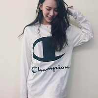 Copy of Supreme X Champion Sweater Women Men Lover Casual Long Sleeve Plus Velvet Hooded Top Pullover Hoodie