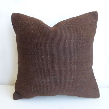 Brown Kilim Pillow Cover