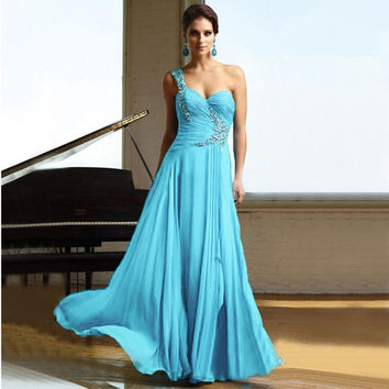 Formal Evening Long Gown Party Prom Ball Bridesmaid Dress = 1956878340