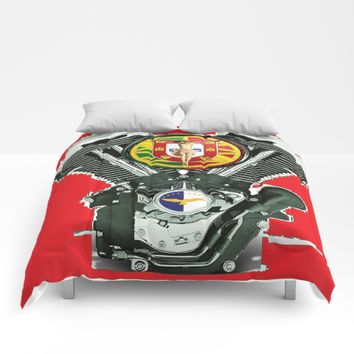 Portuguese Christian Motorcyclist. Comforters by Tony Silveira