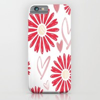 Hearts And Flowers iPhone & iPod Case by ALLY COXON | Society6