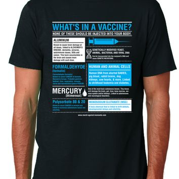 """""""What's in a Vaccine"""" Unisex T-Shirt (Organic Cotton)"""