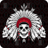 DENY Designs Home Accessories | Chobopop Geometric Indian Skull BlingBox 3ct Cover