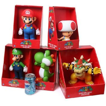 Super Mario party nes switch  Collection Figure Luigi Yoshi Toad Koopa Bowser Donkey Kong Princess Peach PVC Action Figure Toy Doll New in Box AT_80_8