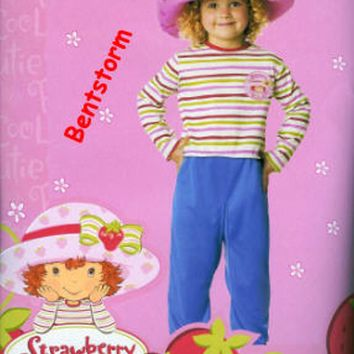 Licensed cool NEW Strawberry Shortcake Dress Up HALLOWEEN Costume Plush Hat Outfit Girls 2-4T