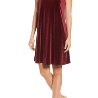 Halogen® Velvet Trapeze Dress | Nordstrom