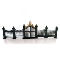Department 56 Accessory VILLAGE WROUGHT IRON GATE & FENCE Metal Accessory 55140