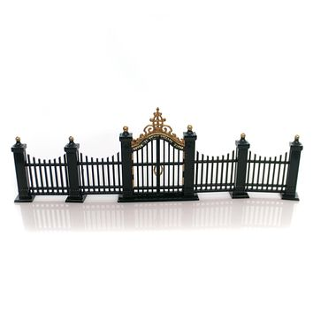 Department 56 Accessory Village Wrought Iron Gate & Fence Christmas House