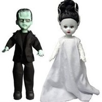 Living Dead Dolls Universal Monsters Frankenstein & The Bride of Frankenstein 10 inch Doll Set
