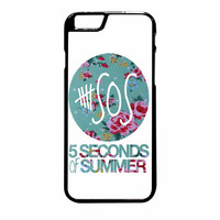 5 Seconds Of Summer Floral Pink iPhone 6 Plus Case