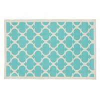 Kids' Rugs: Kids Aqua Woven Cotton Rug in All Rugs | The Land of Nod