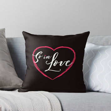 'So In Love' Throw Pillow by sheeranstyle
