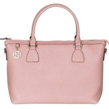 Gucci Soft Pink Calf Leather GG Pendant Hobo Shoulder Bag
