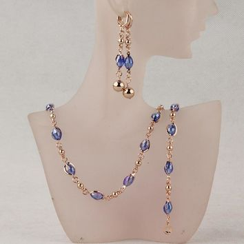 Fashion Crystal African Beads Jewelry Sets Gold Color Wedding Br cad5b9708