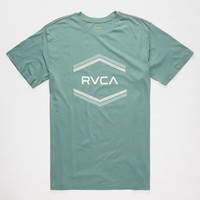 Rvca Double Hex Mens T-Shirt Sage  In Sizes