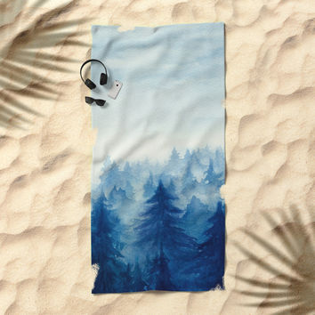 Into The Forest II Beach Towel by Marco Gonzalez
