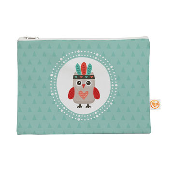 "Daisy Beatrice ""Hipster Owlet Mint Coral"" Teal Everything Bag"