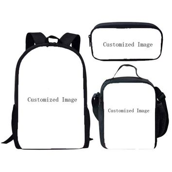 Boys Backpack Bag Customized Image 3Pcs/Set Fortnite Game Printing School Bags Kids Boy School s Shoulder Bagpack Children Bookbag Satchel AT_61_4