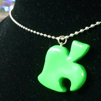 Animal Crossing Inspired Green Lead Ball Chain Necklace Nintendo Jewelry