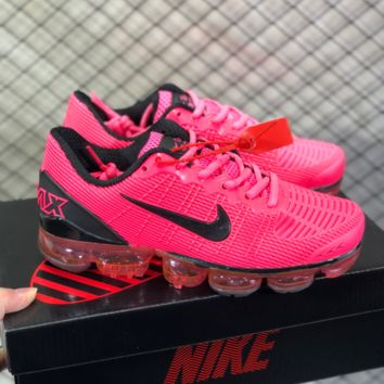 DCCK N805 Nike Air Vapormax Flyknit 2019 Nanotechnology Drop Plastic Shock Absorbing Slip-proof and Wear-resistant Sports Shoes Pink BLACK