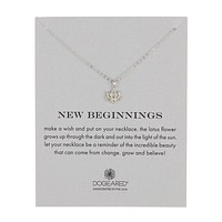 "dogeared reminder ""new beginnings"" necklace in sterling silver"