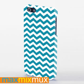 Chevron Background Blue iPhone 4/4S, 5/5S, 5C Series Full Wrap Case