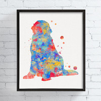 Newfoundland Dog Art, Newfoundland Dog Print, Watercolor Newfoundland Dog, Newfoundland Dog Wall Decor, Dog Lover Gift, Kids Room Decor
