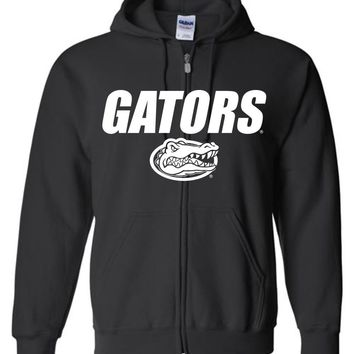 Official NCAA University of Florida Gators The Orange and Blue GATOR NATION! Zip Hoodie - 48UF-1B