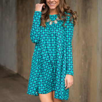 Check It Out Dress, Jade