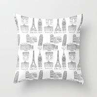 Europe at a glance Throw Pillow by Color and Color