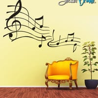 Vinyl Wall Decal Sticker Music Notes  #KRiley101