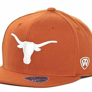 Texas Longhorns Men's Top of the World NCAA Slam Fitted Hat Cap - Orange (One Size)