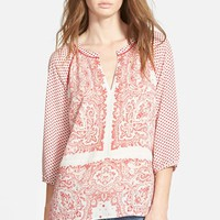 Women's Maison Scotch Dolman Sleeve Print Top