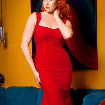 Pinup Couture Jessica Dress in Red