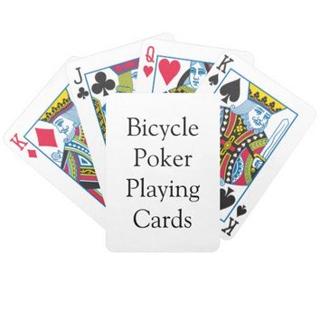 Personalized Bicycle Poker Playing Cards