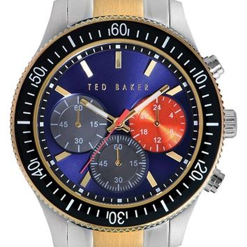 Men's Ted Baker London 'Dress Sport' Chronograph Bracelet Watch, 42mm