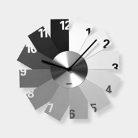 Monochrome Fan Clock