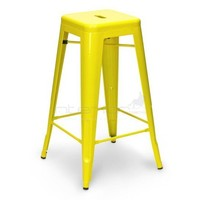 Tolix Bar Stool 65cm - Xavier Pauchard Replica - Yellow