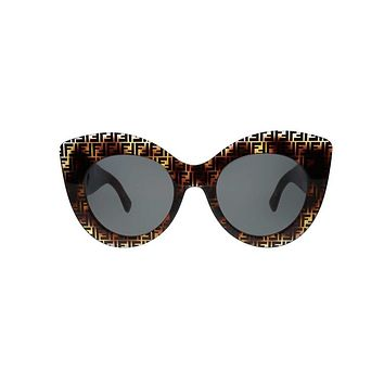 Fendi FF Logo Cat Eye Sunglasses