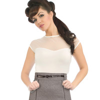 Rock Steady Miss Fancy Top Ivory