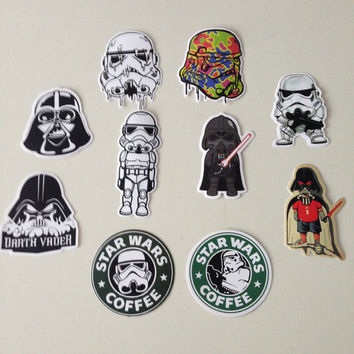 14 kinds Star Wars waterpoof fuel cap creative sticker for Skateboard Laptop Luggage Fridge Phone Styling home Toy Sticker