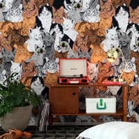 Magical Thinking Catz Tapestry