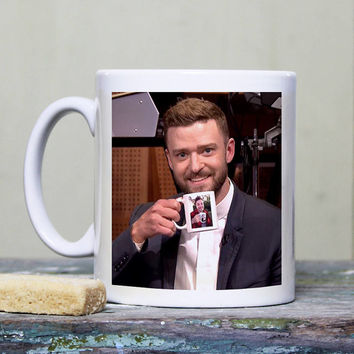 AJG 407 Justin Timberlake & Jimmy Fallon Coffee Mug