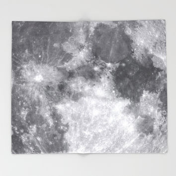 Moon Throw Blanket by Color and Patterns