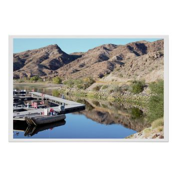 Mountain Reflections on Colorado River Poster