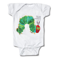 Out of Print The Very Hungry Caterpillar Onesuit White